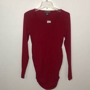 A pea in the pod LS red maternity top